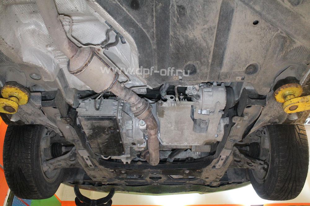 Удаление сажевого фильтра на Mercedes-Benz B-class 180 CDI / Мерседес-Бенц Б 180 дизель