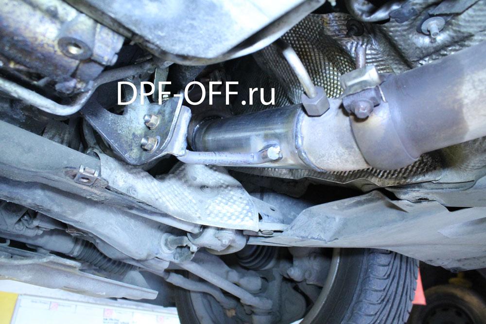 Удаление сажевого фильтра на Mercedes C250 CDI / Мерседес С250 дизель