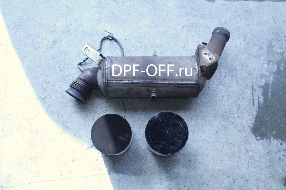 Удаление сажевого фильтра на Mercedes E220 CDI / Мерседес е220 дизель
