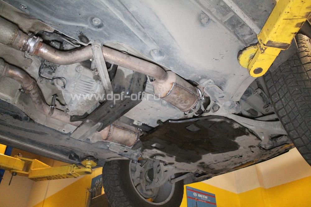 Удаление сажевого фильтра на Mercedes-Benz GL 420 CDI X164 / Мерседес-Бенц ГЛ420 дизель