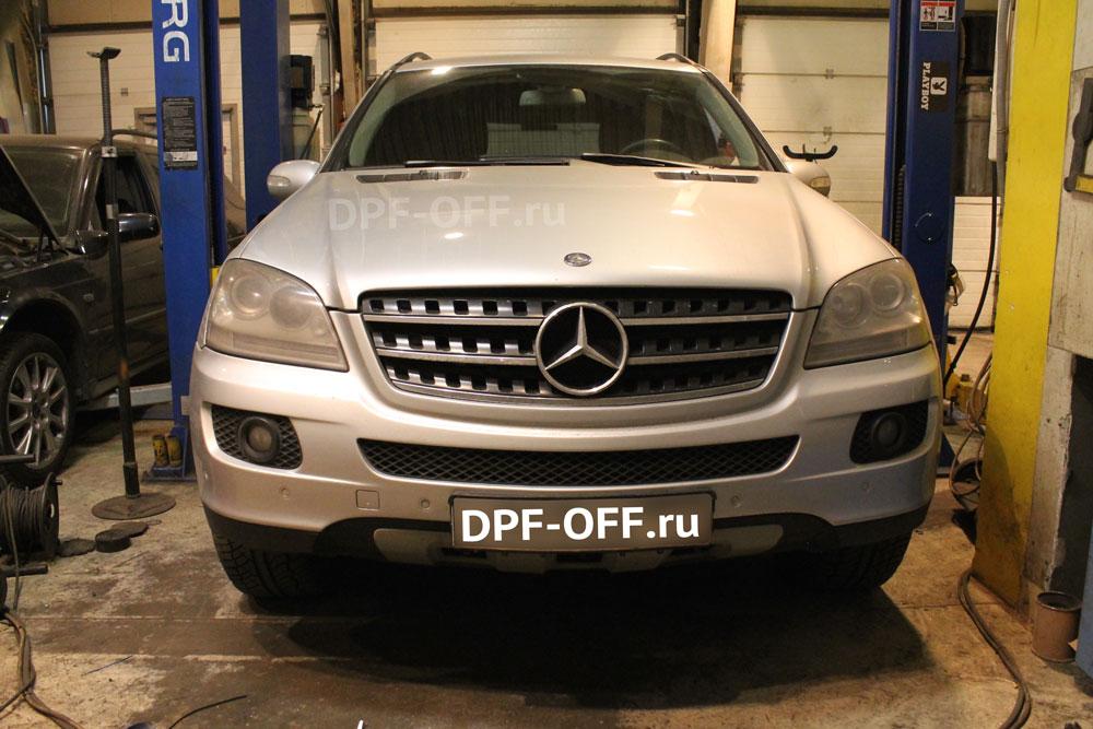 Удаление сажевого фильтра на Mercedes-Benz ML350 CDI W164