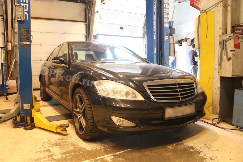 Удаление сажевого фильтра на Mercedes-Benz S320cdi (w221)