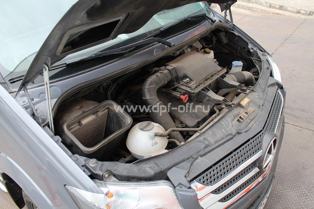 Удаление сажевого фильтра на Mercedes-Benz Sprinter 2.2 CDI / Мерседес-Бенц Спринтер 2.2 дизель