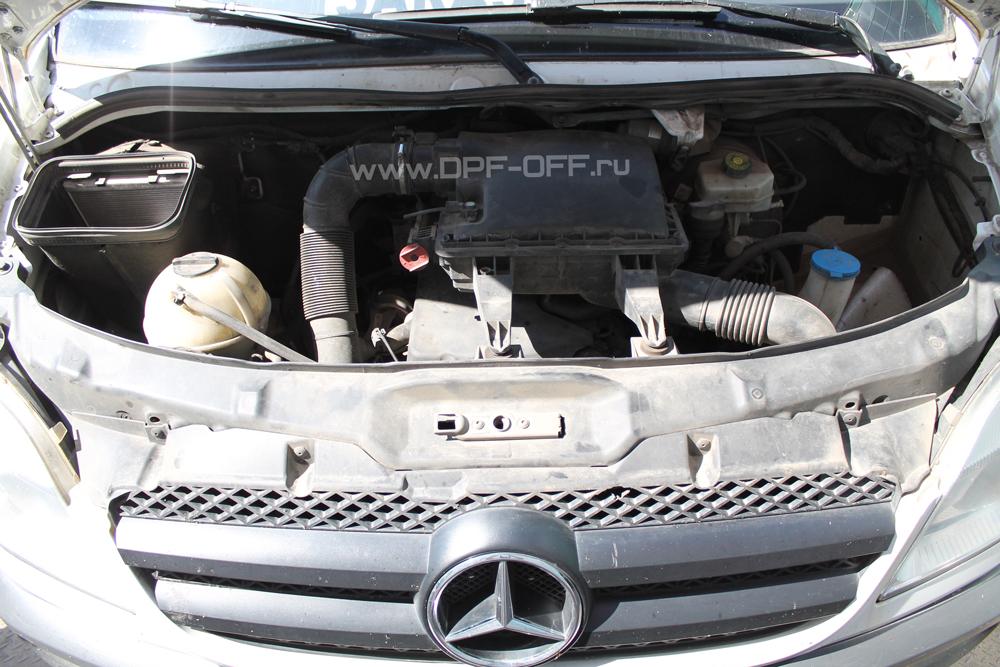 Удаление сажевого фильтра на Mercedes-Benz Sprinter 2.2 CDI / Мерседе-Бенц Спринтер 2.2 дизель