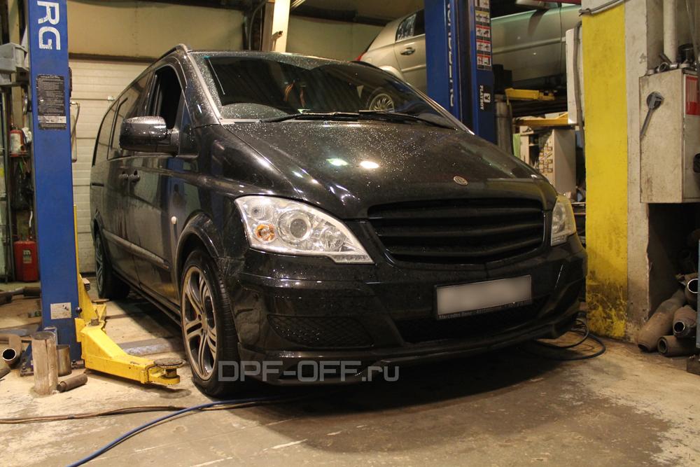 Удаление сажевого фильтра на Mercedes-Benz Viano 3.0 CDI (W639)