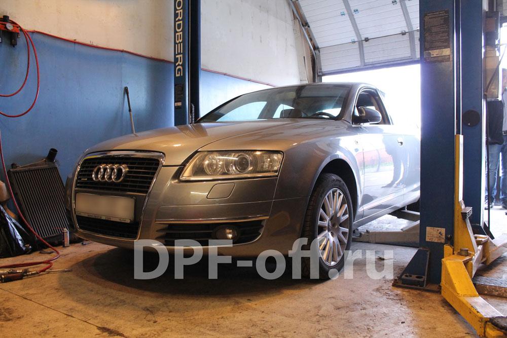 Удаление сажевого фильтра на Audi A6 2.7 TDI