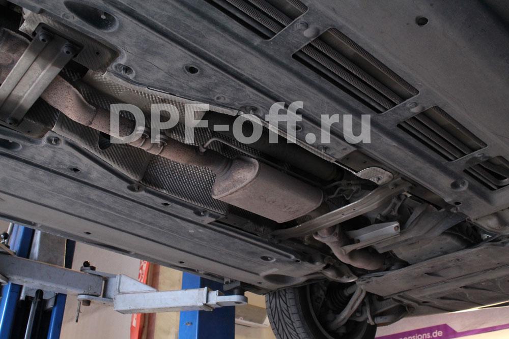 Удаление сажевого фильтра на Audi A6 2.7 TDI / Ауди А6 2.7 дизель