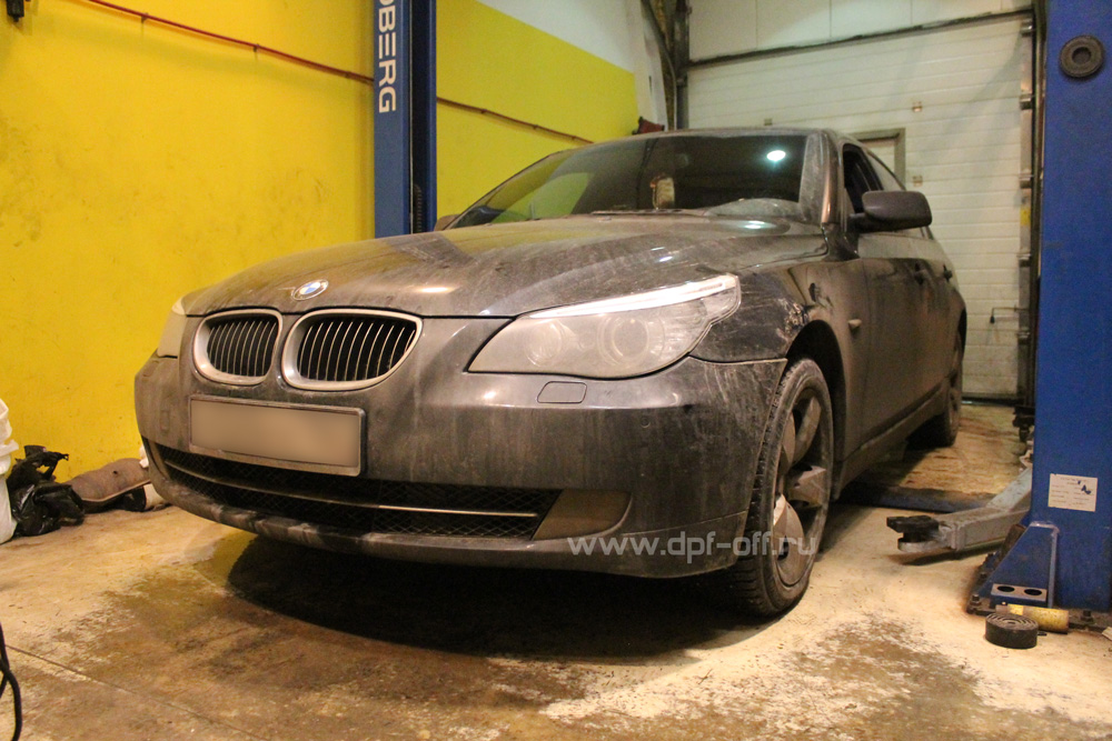 Удаление сажевого фильтра на BMW 525d (E60)