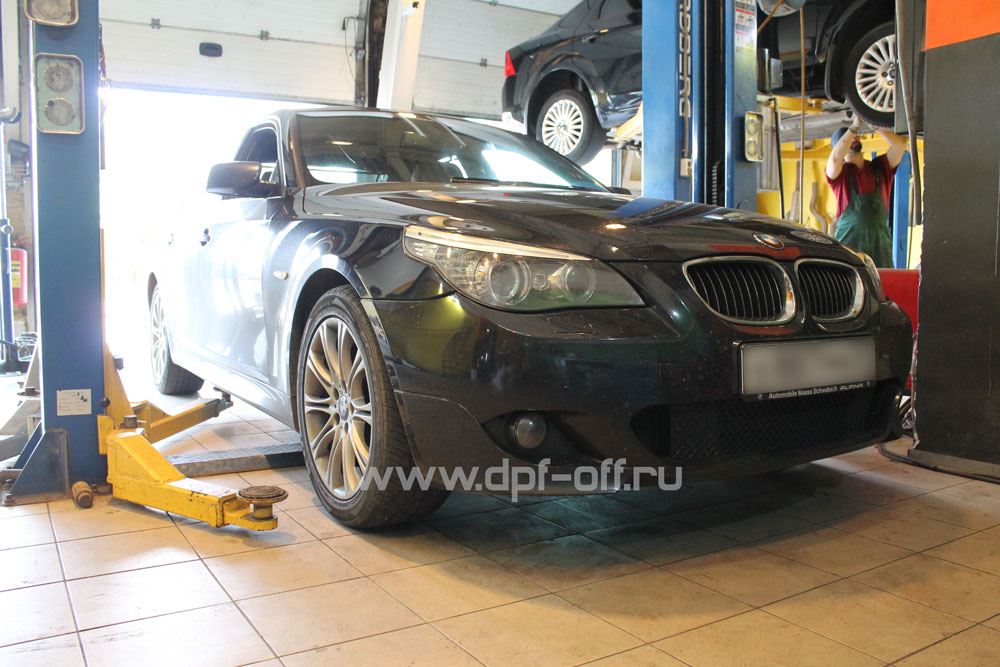 Удаление сажевого фильтра на BMW 530d E60