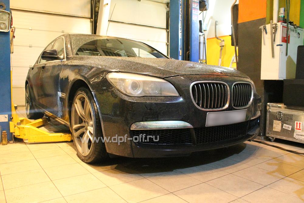 Удаление сажевого фильтра на BMW 730d (F01)