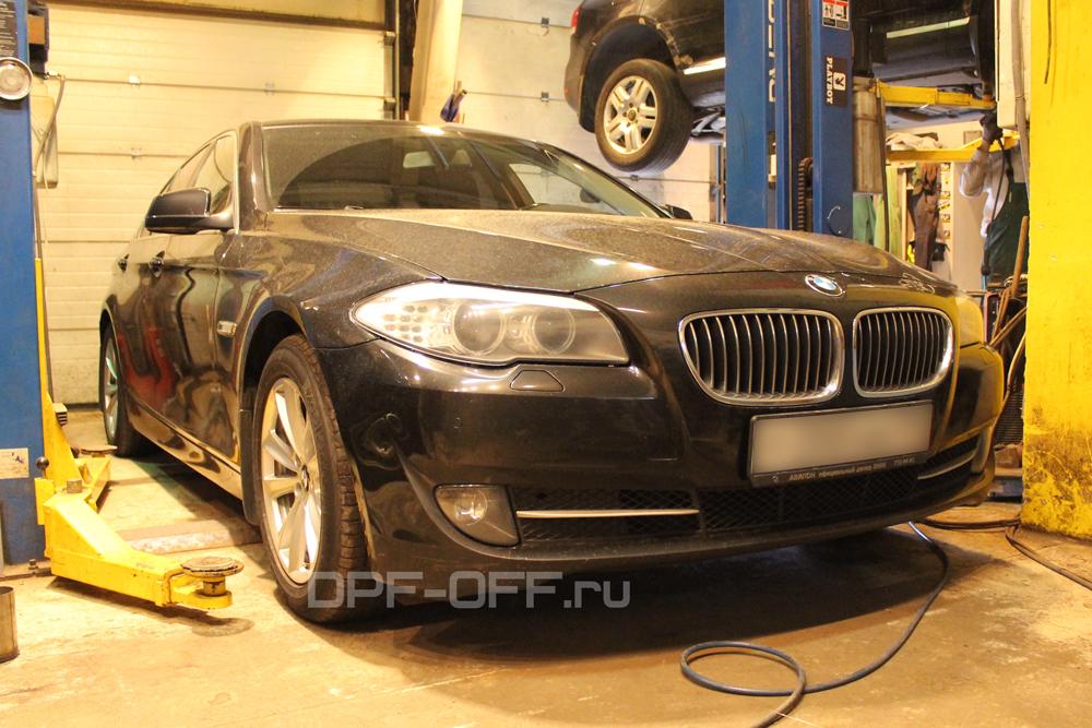 Удаление сажевого фильтра на BMW 525d (F10)