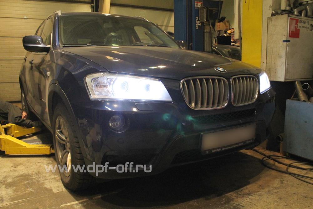 Удаление сажевого фильтра на BMW X3 30d (F25)