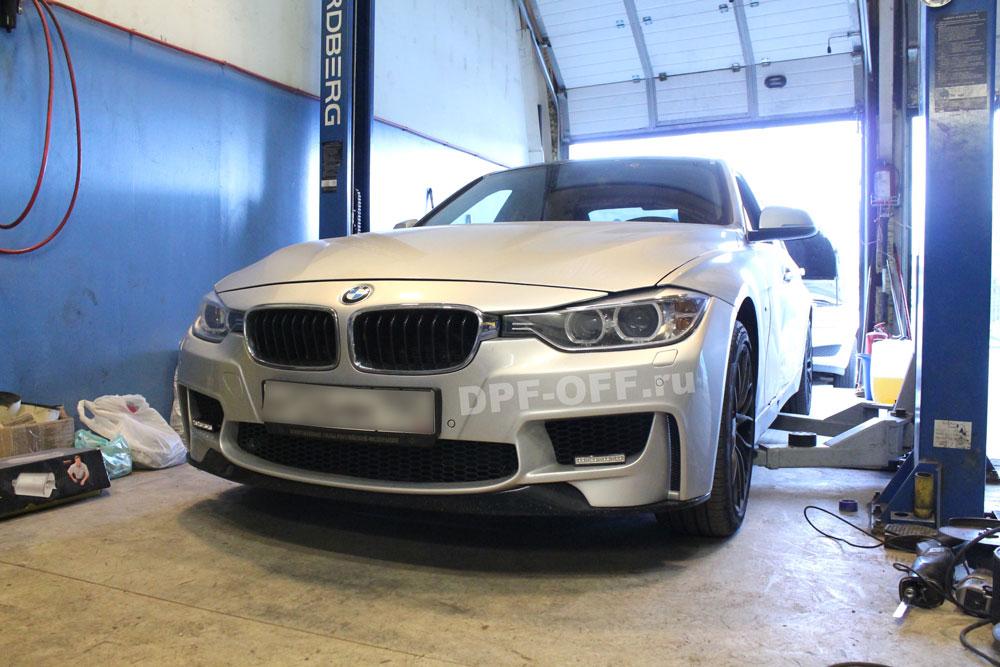 Удаление сажевого фильтра на BMW 320d (F30)
