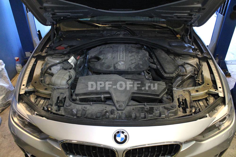Удаление сажевого фильтра на BMW 320d F30 / БМВ 320д ф30