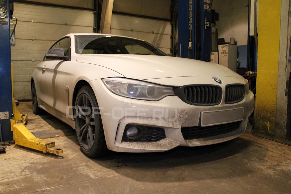 Удаление сажевого фильтра на BMW 420d (F32)