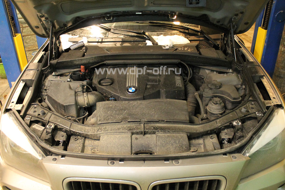 Удаление сажевого фильтра на BMW X1 20d (E83) / БМВ Х1 20д e83