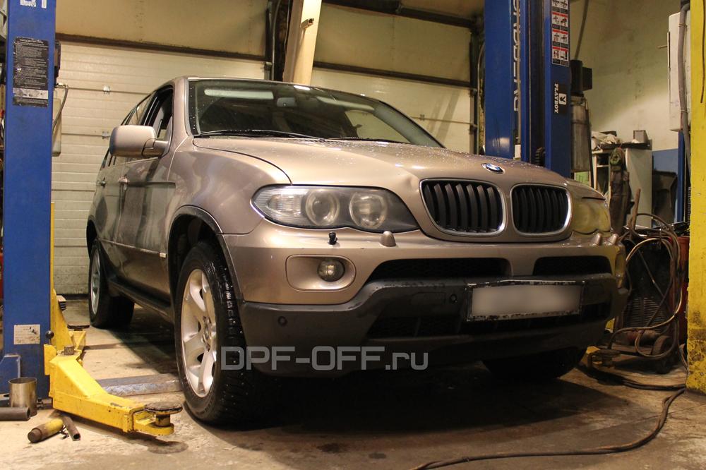 Удаление сажевого фильтра на BMW X5 30d (E53) 218 л.с.