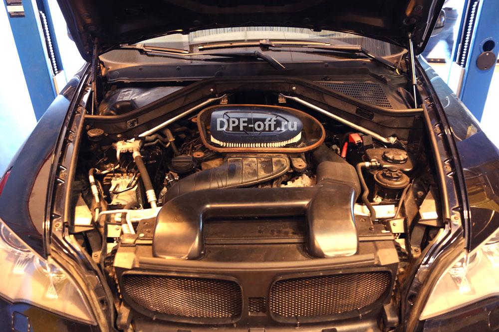 Удаление сажевого фильтра на BMW X5 40d (E70)