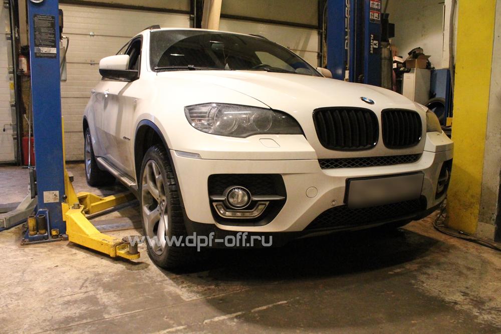Удаление сажевого фильтра на BMW X6 40d (E71)