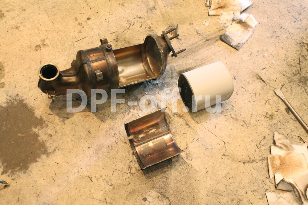 Удаление сажевого фильтра на chevrolet captiva 2.2d / шевроле 2.2 дизель