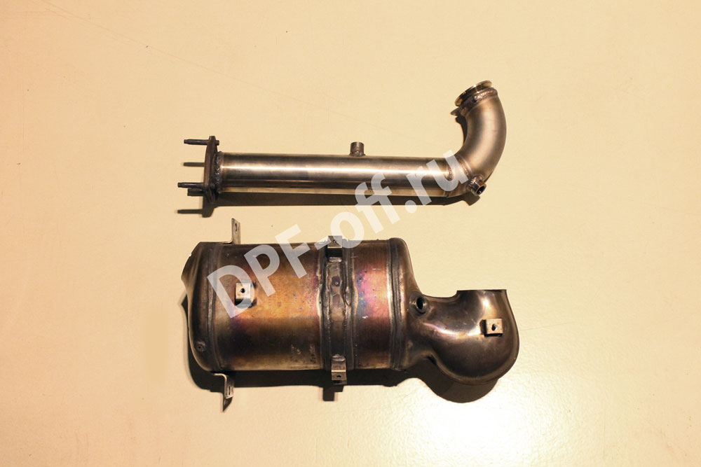 Удаление сажевого фильтра на chevrolet captiva 2.2d / Шевроле Каптива 2.2 дизель
