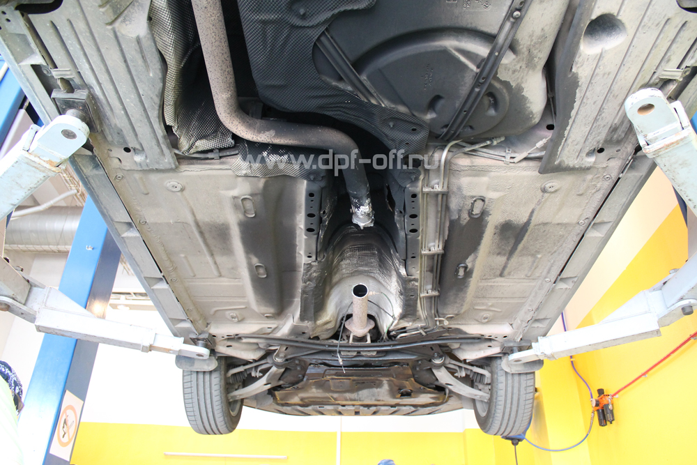Удаление сажевого фильтра на Ford Focus 3 2.0 TDCi / Форд Фокус 3 2.0 дизель