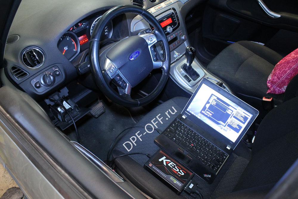 Удаление сажевого фильтра на Ford Galaxy 2.0 TDCI / Форд Гелекси 2.0 дизель