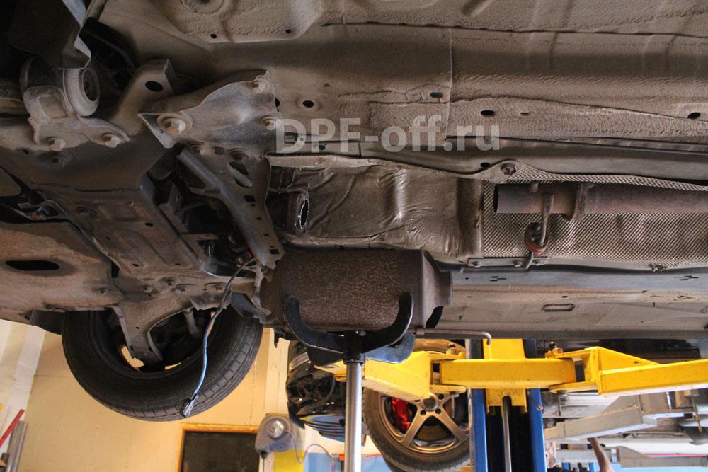 Удаление сажевого фильтра на Ford Mondeo 2.0d / Форд Мондео 2.0 дизель