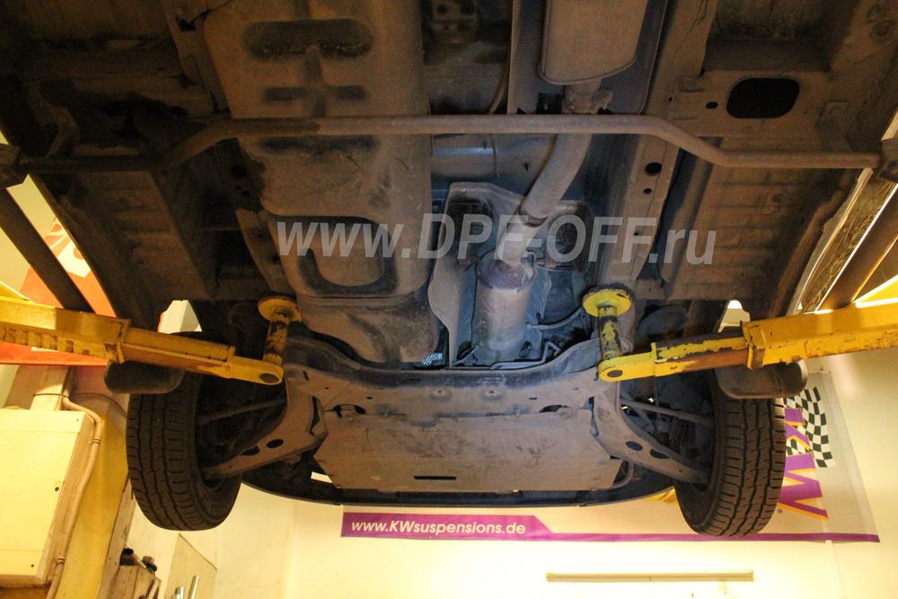 Удаление сажевого фильтра на Ford Transit 2.2d / Форд Транзит 2.2 дизель