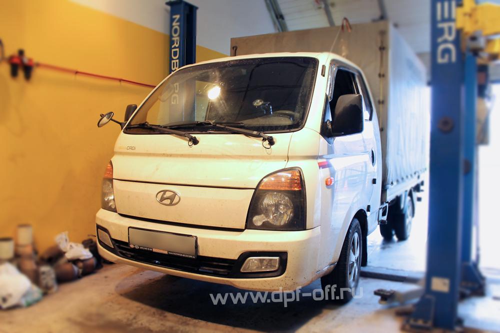 Удаление сажевого фильтра на Hyundai Porter 2.5d