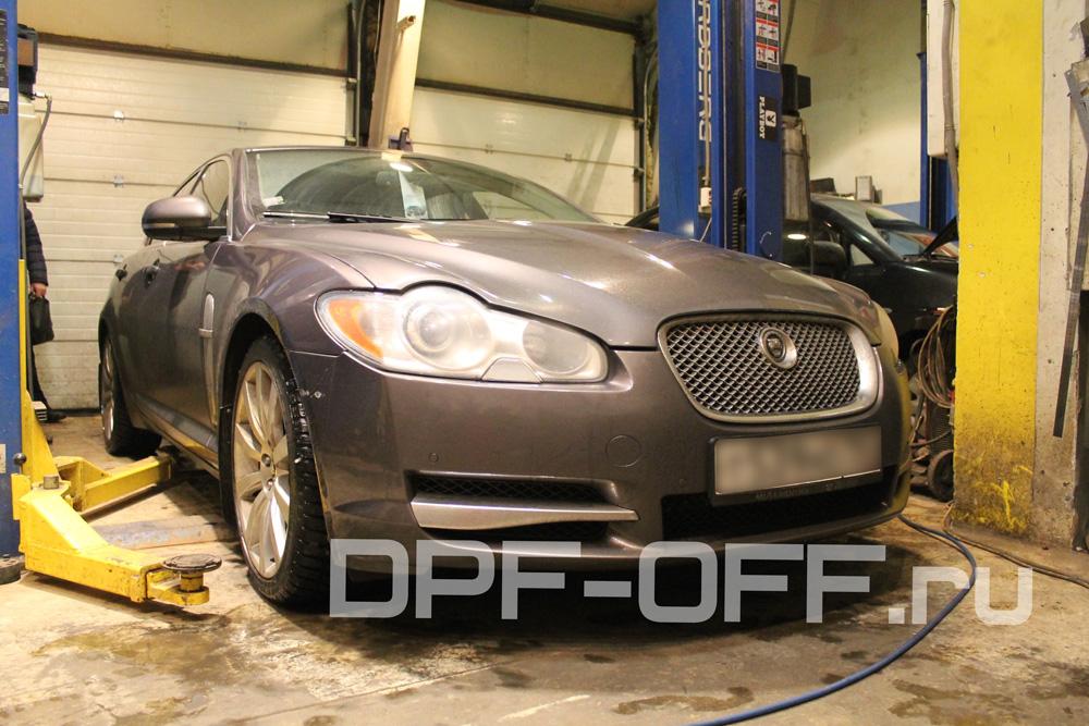 Удаление сажевого фильтра на Jaguar XF 3.0d