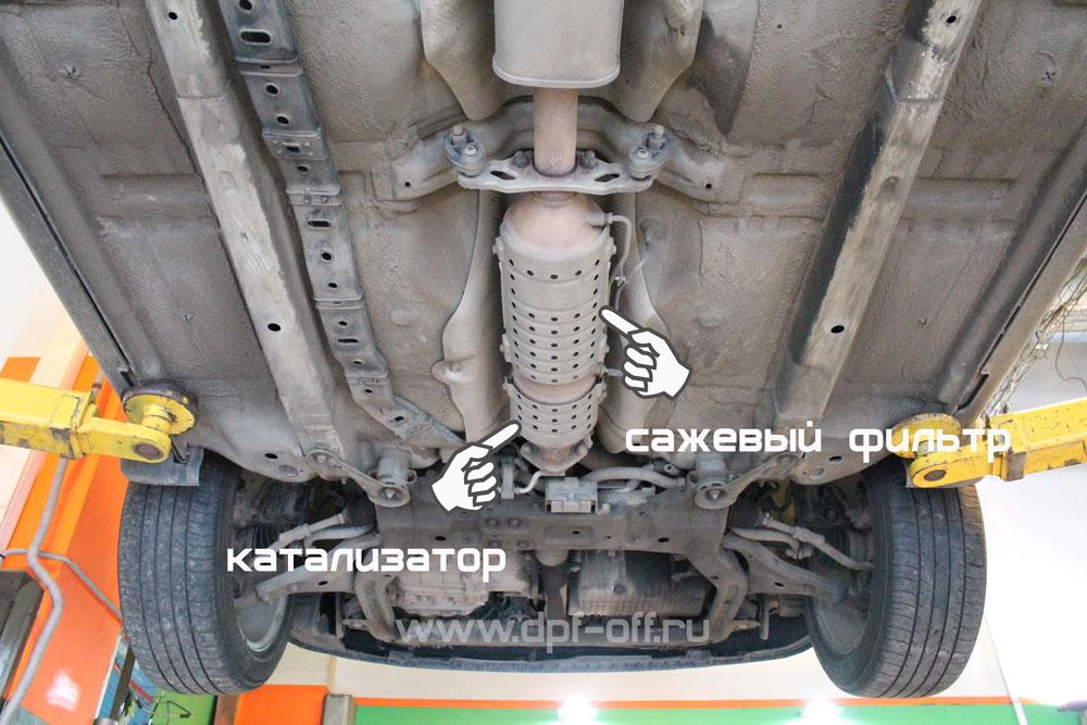 Удаление сажевого фильтра на Kia Magentis / Киа Маджентис 2.0 дизель
