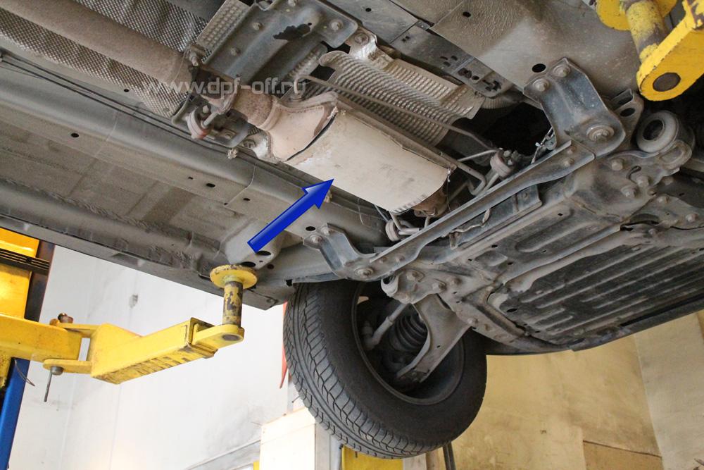 Удаление сажевого фильтра на Land Rover Freelander 2.2 TD4 / Ленд Ровер Фрилендер 2.2 дизельь Е60