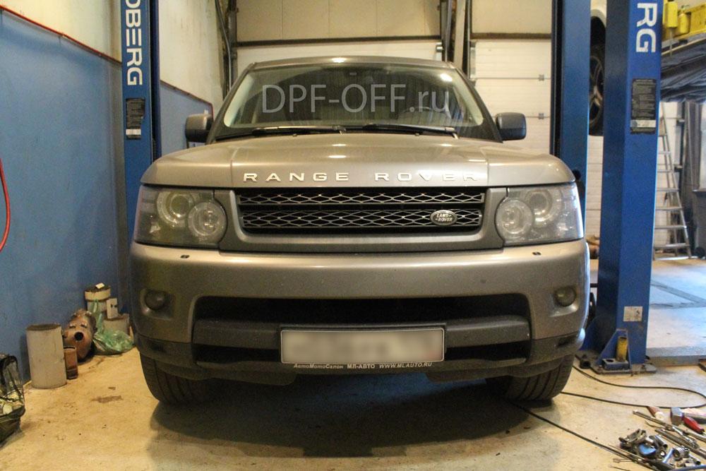 Удаление сажевого фильтра на Range Rover Sport 3.0 TDV6