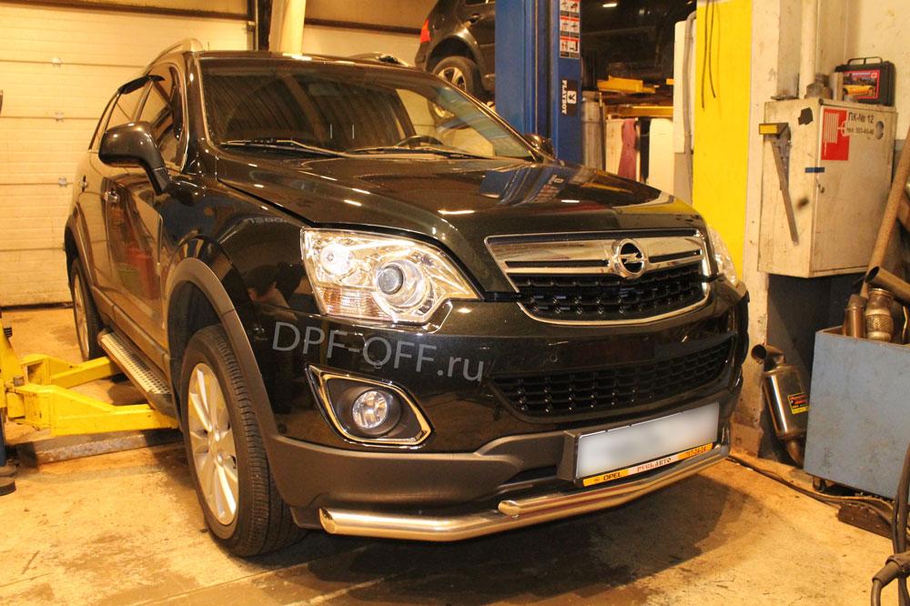 Удаление сажевого фильтра на Opel Antara 2.2 CDTI