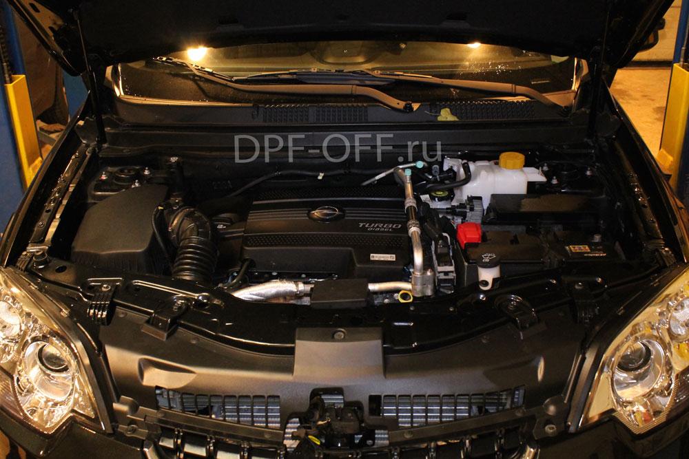 Удаление сажевого фильтра на opel antara 2.2cdti / опель антара 2.2 дизель