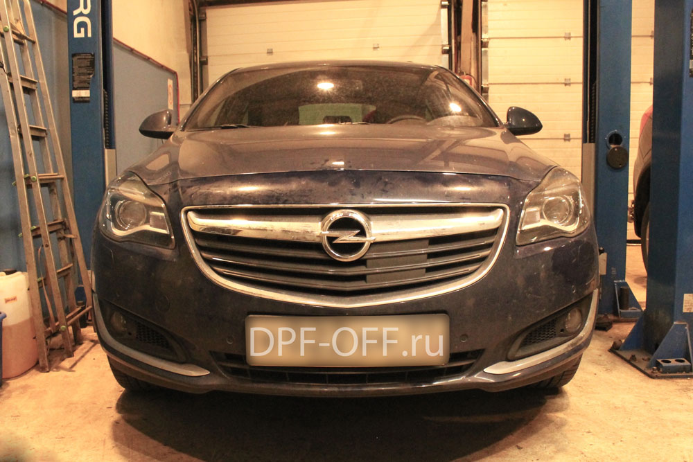 Удаление сажевого фильтра на Opel Insignia 2.0 CDTI BiTurbo