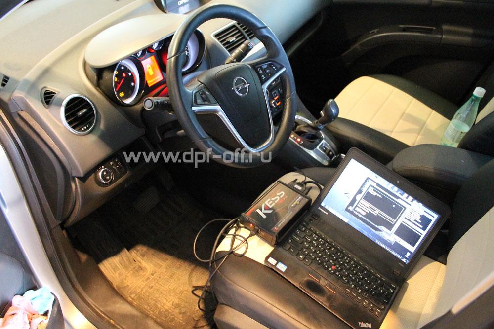 Удаление сажевого фильтра на Opel Meriva 1.7 CDTI / Опель Мерива 1.7 дизель