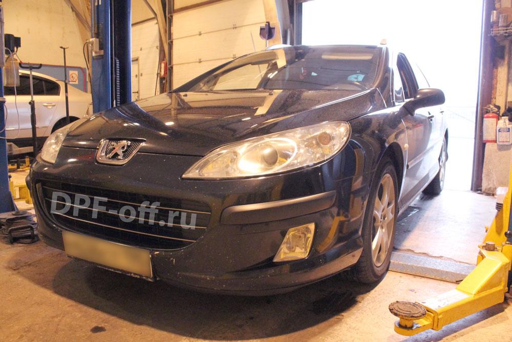 Удаление сажевого фильтра на Peugeot 407 1.6d