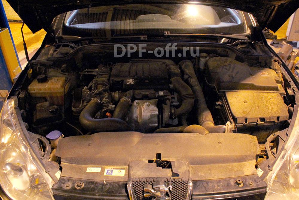 Удаление сажевого фильтра на Peugeot 407 1.6 hdi / Пежо 407 1.6 дизель