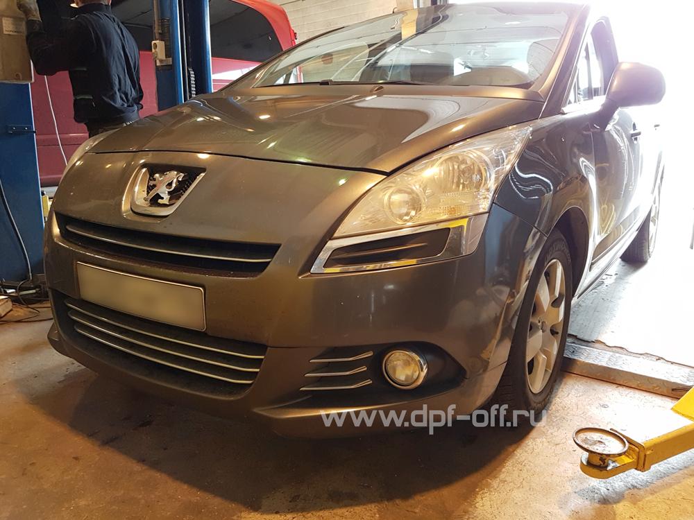 Удаление сажевого фильтра на Peugeot 5008 1.6 HDI