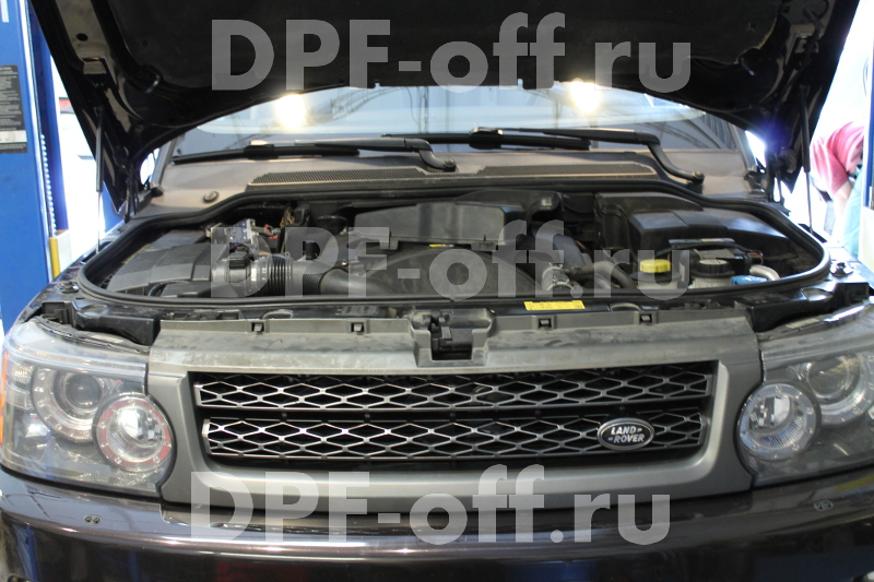 Удаление сажевого фильтра на автомобиле Range Rover Sport 3.0 TDV6