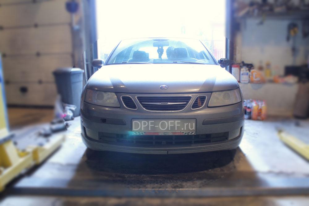 Удаление сажевого фильтра на Saab 9.3 1.9d