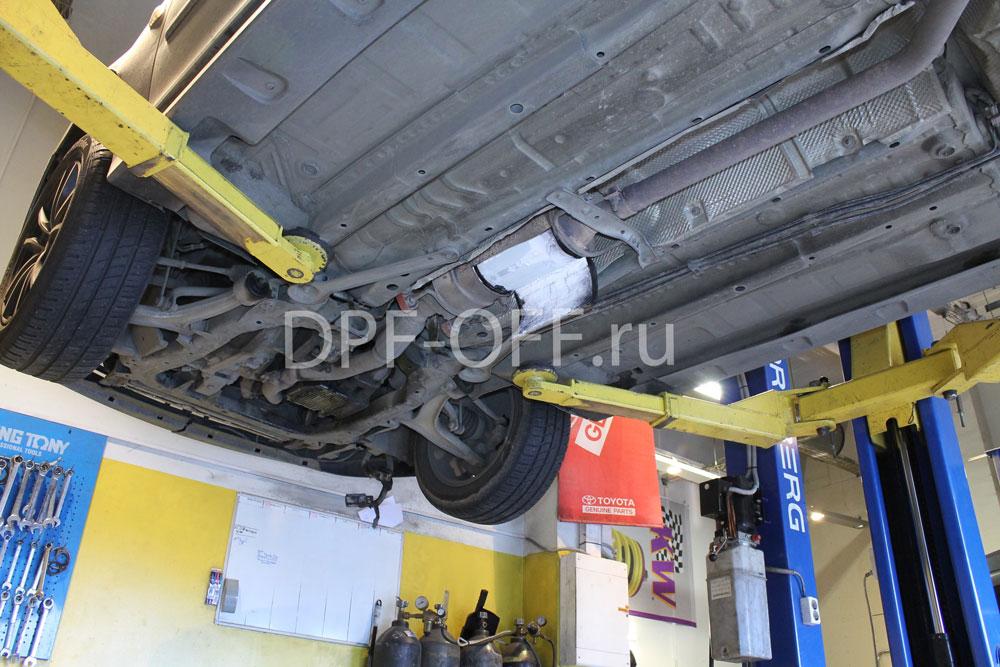 Удаление сажевого фильтра на Saab 9.3 1.9d / Сааб 9.3 1.9 дизель