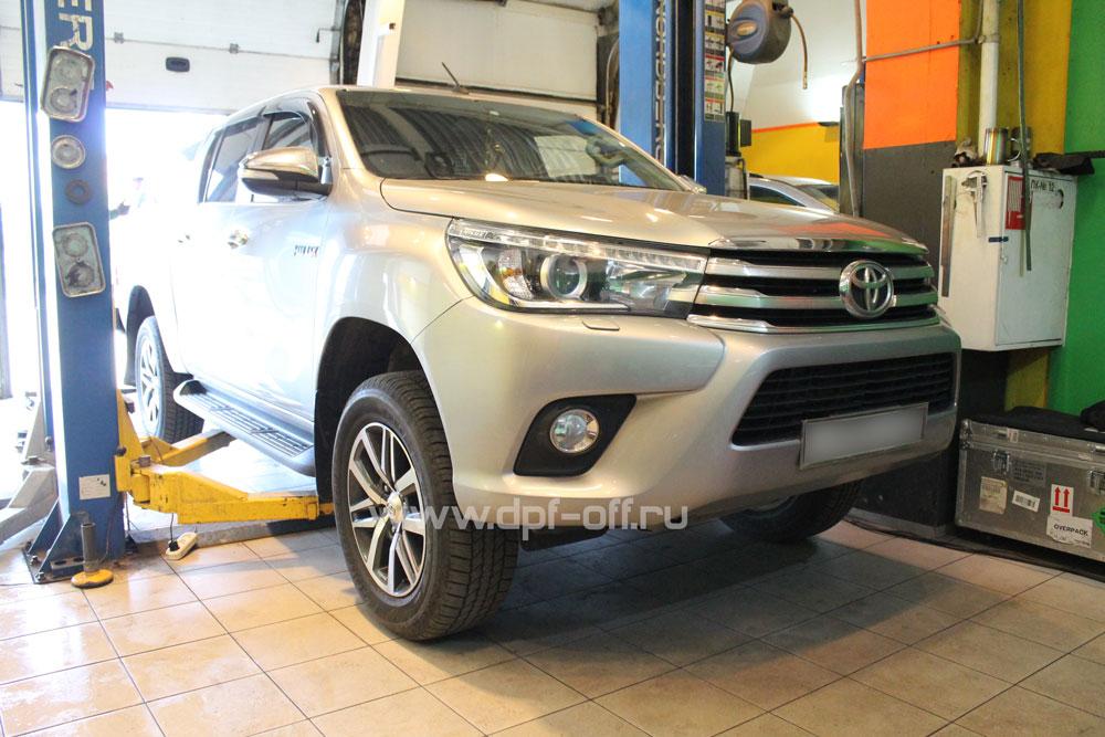 Удаление сажевого фильтра на Toyota Hilux 2.8d (D-4D)