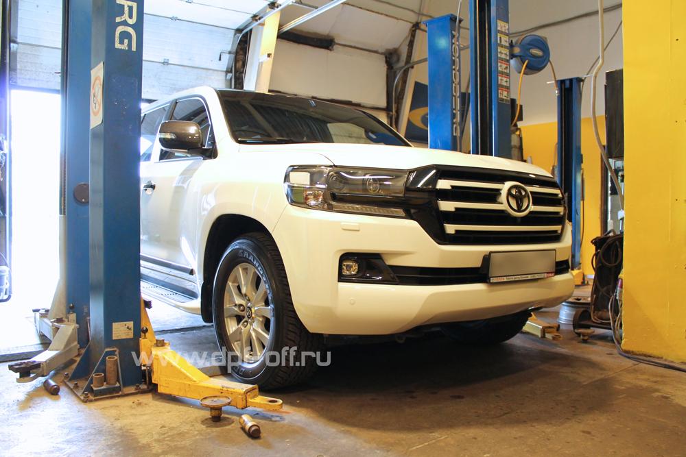 Удаление сажевых фильтров на Toyota Land Cruiser 200
