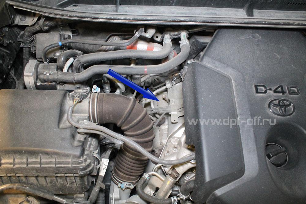 Удаление сажевого фильтра на Land Cruiser Prado 2.8d / Тойота Ленд Крузер Прадо 2.8 дизель