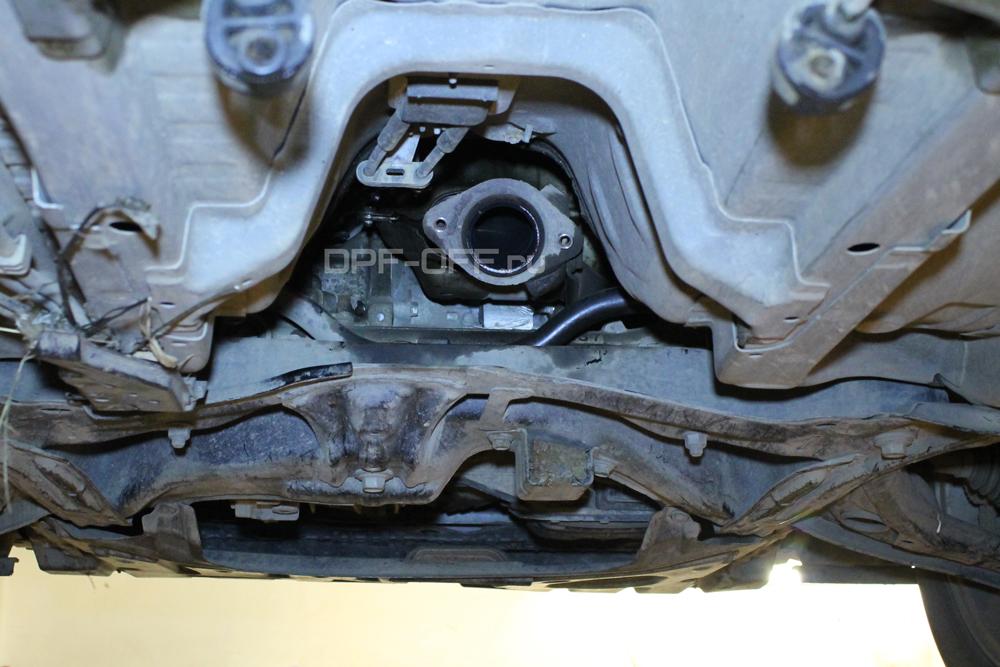 Удаление сажевого фильтра на Toyota Urban Cruiser 1.4 d-4d / Тойота Урбан Крузер 1.4 дизель