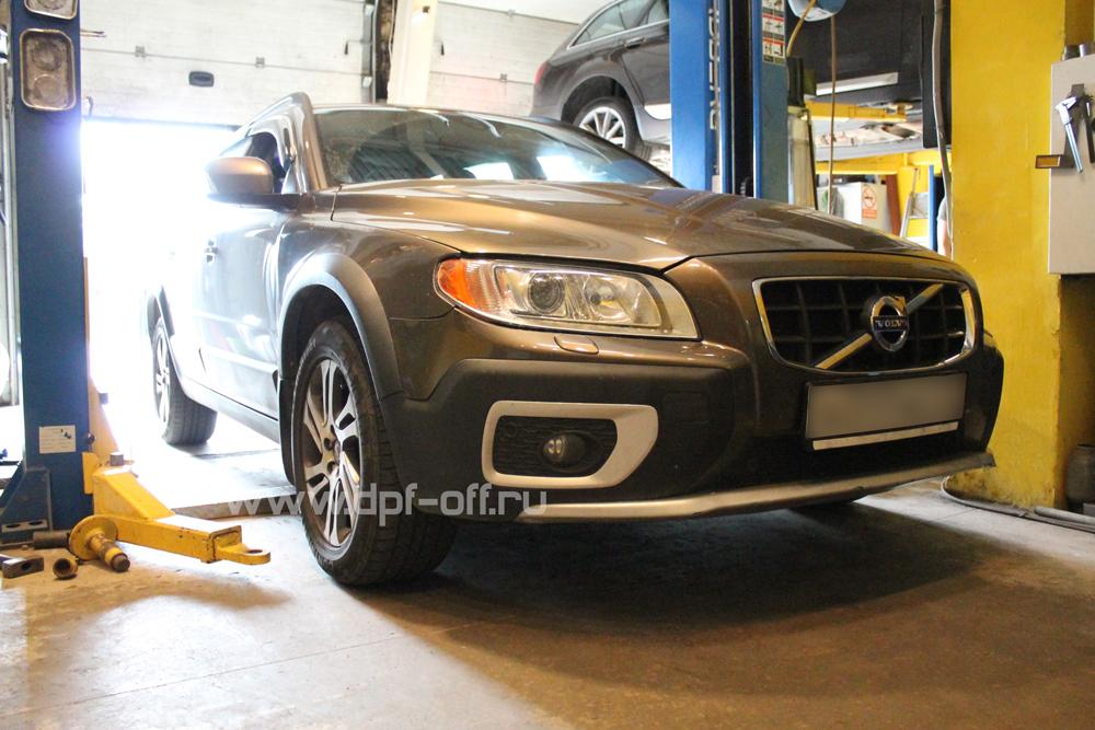 Удаление сажевого фильтра на Volvo XC70 D5 2.4 (215 л.с.)