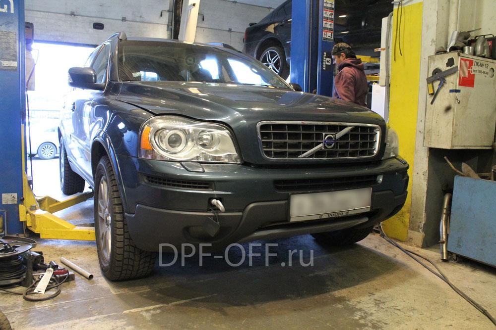 Удаление сажевого фильтра на Volvo XC90 2.4d